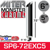 "6"" x 72"" Miter Cut Chrome Monster Stack Reduced to 5"" ID SP6-72EXC"