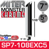 """7"""" x 108"""" Miter Cut Monster Chrome Reducer Stack 5"""" ID"""