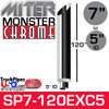 """7"""" x 120"""" Miter Cut Chrome Monster Stack Reduced to 5"""" ID"""