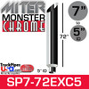 """7"""" x 72"""" Miter Cut Chrome Monster Stack Reduced to 5"""" ID"""