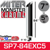 """7"""" x 84"""" Miter Cut Chrome Exhaust Stack Reduced to 5"""" ID"""