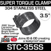 """3.5"""" Super Torque Exhaust Clamp 304 Stainless Steel STC-35SS"""