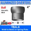 """4"""" Tilt Ball Aluminized Heat Diverter Box Connector TBA-4"""