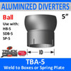 "5"" Tilt Ball Aluminized Heat Diverter Box Connector TBA-5"