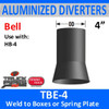 "4"" Tilt Bell Aluminized Heat Diverter Box Connector TBE-4"
