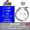 """VB-588C 5.88"""" Clamp - Breeze VTW10588-1 & VT10588-1"""