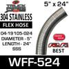 """04-19105-024 Westfalia 304 Stainless Steel Flex 5"""" x 24"""" WFF-524"""