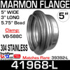 """5"""" Marmon Flange 5.756 Bead 304 Stainless Steel 41968-L"""