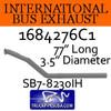 "1684276C1 International Bus Pipes 3 Bend 3.5"" OD Flare Flat ALZ"