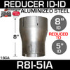 """8"""" ID to 5"""" ID Exhaust Reducer Aluminized Pipe R8I-5IA"""