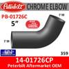 14-01726CP Peterbilt 359 Exhaust 5 inch chrome elbow 67 degree