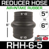 """6"""" ID to 5"""" ID Rubber Reducer Hump Hose for Air Intake RHH-6-5"""