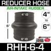 "6"" x 4"" Air Intake Rubber Reducer Hose RHH-6-4"