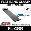 """4"""" 304 Stainless Steel Flex-Seal Exhaust Clamp FL-4SS"""