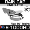 10 inch Heavy Duty Exhaust Rain Cap in Steel 9-1000HD