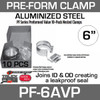 "6"" Preformed Aluminized Exhaust Seal Clamp 10 Pc Bulk Pack PF-6AVP"