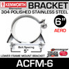 "6"" Lower Frame Mounting Bracket for Kenworth Aerocab ACFM-6"