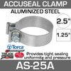 """2.5"""" Aluminized AccuSeal Exhaust Band Clamp AS-25A"""