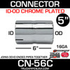 "5"" Exhaust Coupler/Connector ID-OD Chrome CN-56C"