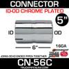 "5"" Exhaust Coupler/Connector ID-OD Chrome CN-56C"