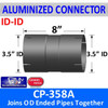 """3.5 inch Exhaust Coupler ID-ID Aluminized 8"""" Long CP-358A"""