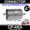 """4"""" x 8"""" Exhaust Coupler ID-ID Aluminized CP-48A or 31-400A"""