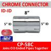 "5 inch Chrome Exhaust Coupler ID-ID 8"" Long CP-58C"