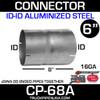 "6"" x 8"" Exhaust Coupler ID-ID Aluminized CP-68A"