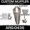 "10"" x 36"" Universal Muffler with 4"" ID End ARG-0436"
