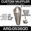 "10"" x 36"" Universal Muffler 5"" OD ARG-0536OD"