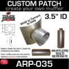 "3.5"" ID Universal Muffler Patch 8x8 ARP-035"