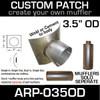 "3.5"" OD Universal Muffler Patch 8x8 ARP-035OD"