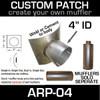 "4"" ID Universal Muffler Patch 8x8 ARP-04"