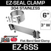 """6"""" EZ Seal Stainless Steel Exhaust Clamp EZ-6SS"""