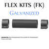 """FK-424G 4"""" x 24"""" Galvanized Flex Pipe Kit 2 Clamps Included FK-424G"""