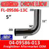 04-09586-013 Freightliner 90 Deg Chrome Exhaust Elbow FL-09586-013C