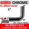 04-09657-013 Freightliner Chrome 90 Deg Elbow FL-09657-013C