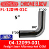 04-12099-001 Freightliner 100 Degree Chrome Elbow FL-12099-01C