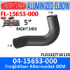 04-15653-000 Freightliner Aluminized Right Exhaust Elbow FL-15653-000
