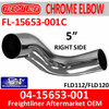 04-15653-001C Freightliner Chrome Right Exhaust Elbow FL-15653-001C