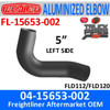 04-15653-002 Freightliner Aluminized Left Exhaust Elbow FL-15653-002