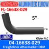 """04-16638-029 Freightliner 75 Deg Elbow 5"""" ID-OD FL-16638-029"""