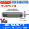 A04-26200-018 Bellows ALZ Turbo Flare for Freightliner