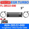 "EBFL11876 or A04-28522-000 or A04-25022-018 5"" Bellows EGR"