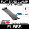 "5"" 304 Stainless Steel Flex-Seal Exhaust Clamp FL-5SS"