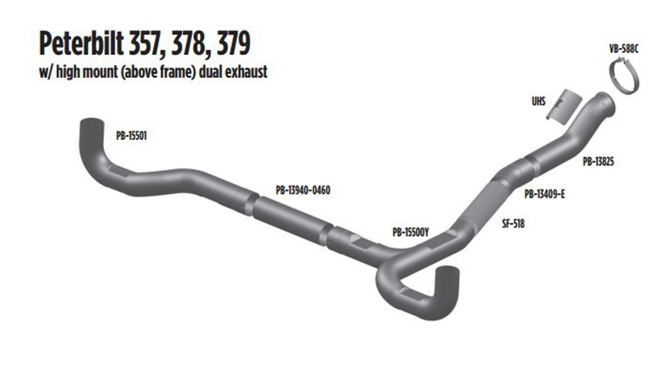 357,378,379 Dual Exhaust Layout