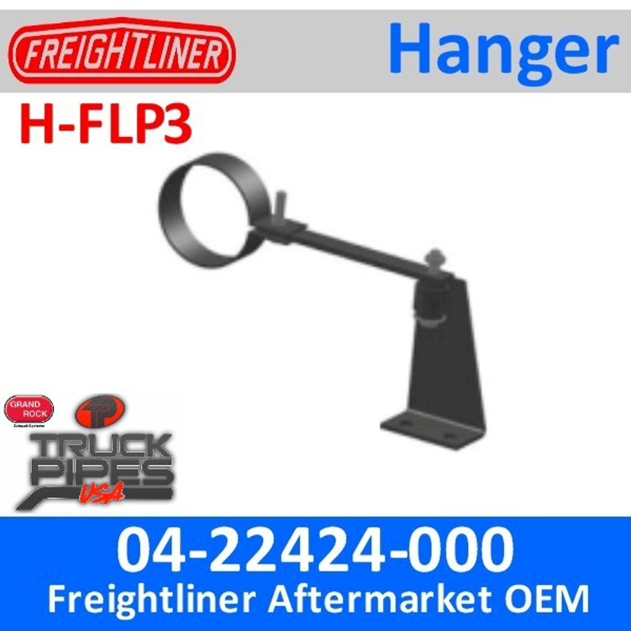 04-22424-000 Freightliner Tail Pipe Hanger H-FLP3