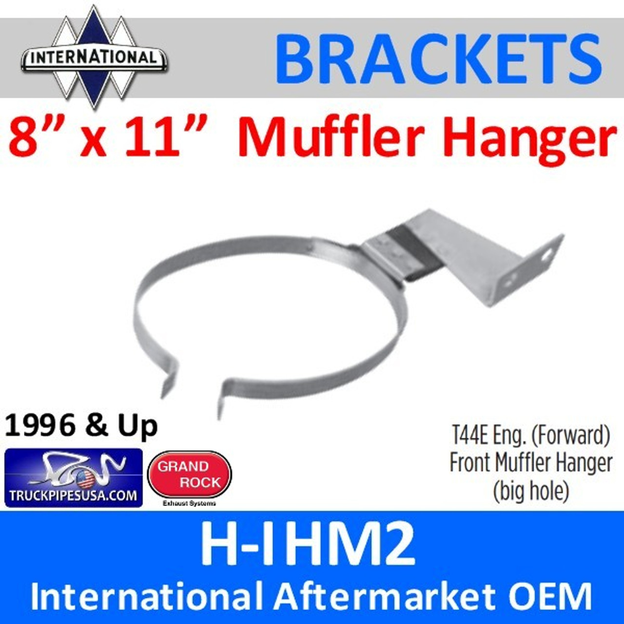 2013206C91 8 x 11 Oval Front Muffler Hanger International H-IHM2