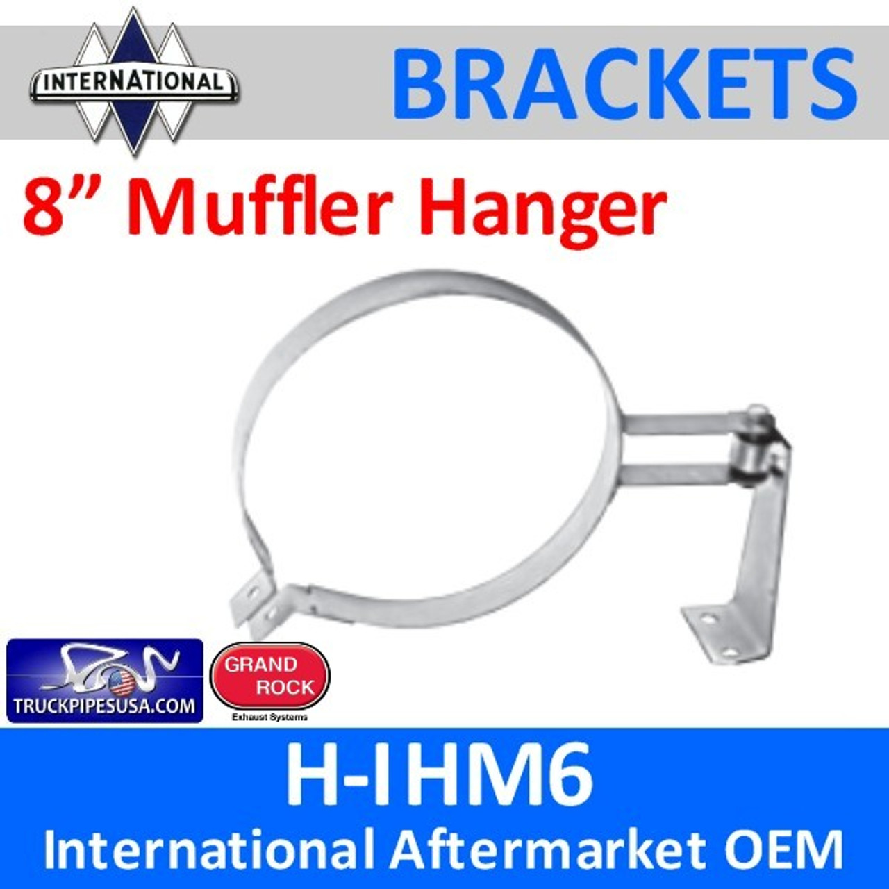 "1660539C91 8"" HD Muffler Hanger International"
