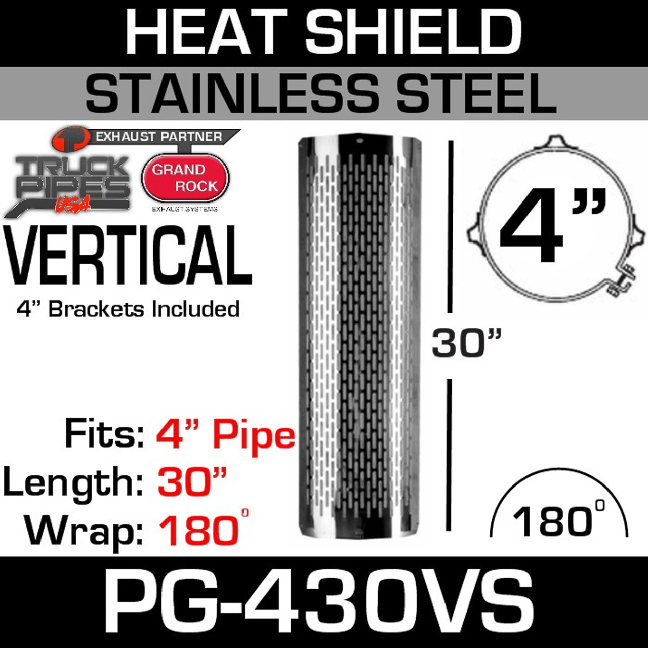 PG-730NS 7 x 30 Stainless Steel No Slot Guard With 7 Brackets